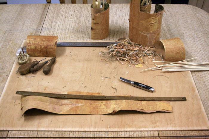 Making Birch Bark Containers Tutorial Jonsbushcraft